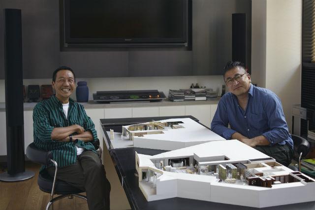 時には、深夜までデザインミーティングが続いたこともあったという鴨志田さんと片山さん。最終段階のディテールまで妥協を許さない2人のこだわりが、ショップ全体に張り巡らされている。