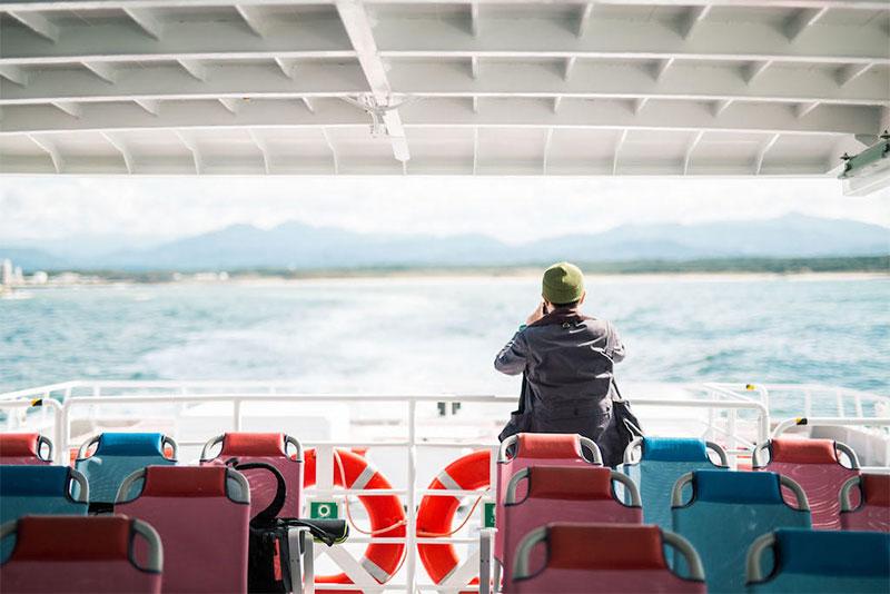 粟島浦村|新潟県岩船港のフェリー