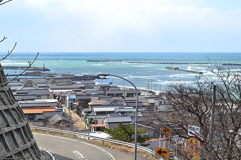 出雲崎町の海岸地区|新潟