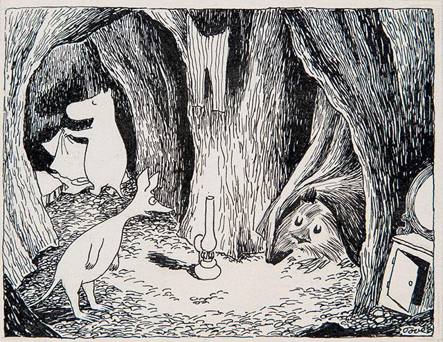 トーベ・ヤンソン「《ムーミン谷の彗星》挿絵」