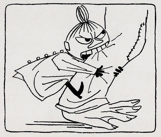 トーベ・ヤンソン「《ムーミン谷の夏まつり》挿絵」